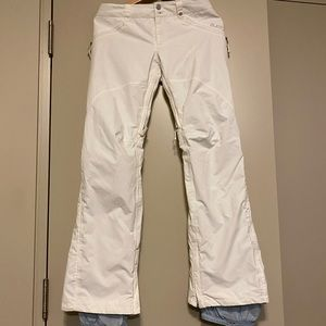 Burton women's white snow pant- size Small